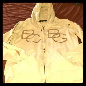 BCBG Gold studded hoodie